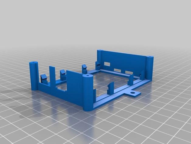 树莓派安装支架 3D打印模型渲染图
