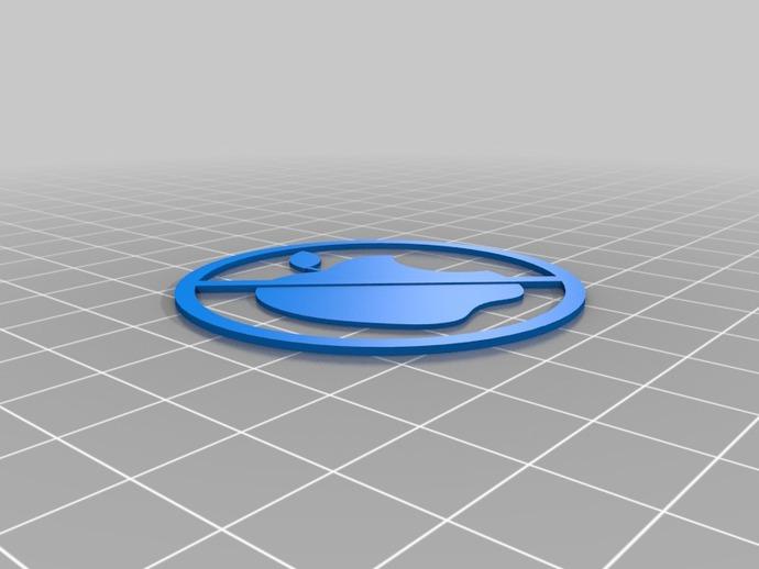 Anti-Mac标志 3D打印模型渲染图