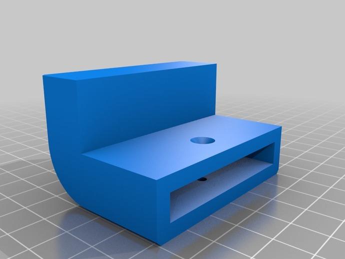 梯形电脑支架 3D打印模型渲染图