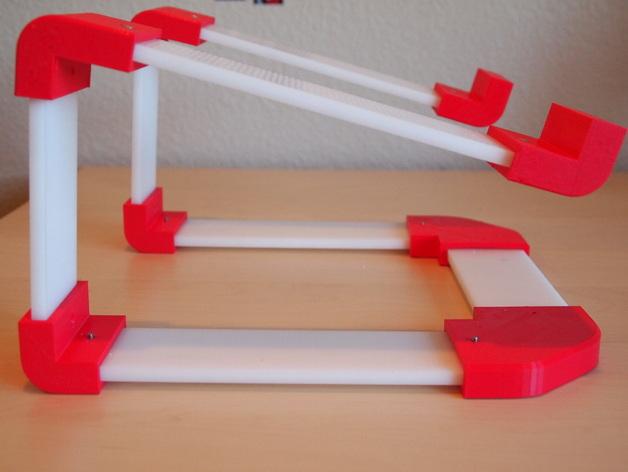 梯形电脑支架