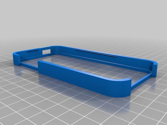iPhone 5 手机套 3D打印模型渲染图