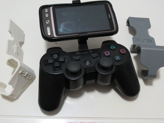 游戏机手柄固定夹 3D打印模型渲染图