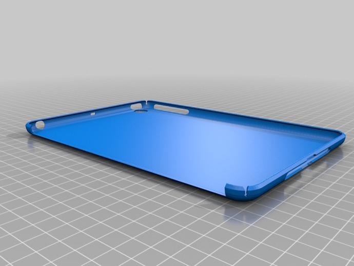 iPad Mini平板电脑保护壳 3D打印模型渲染图