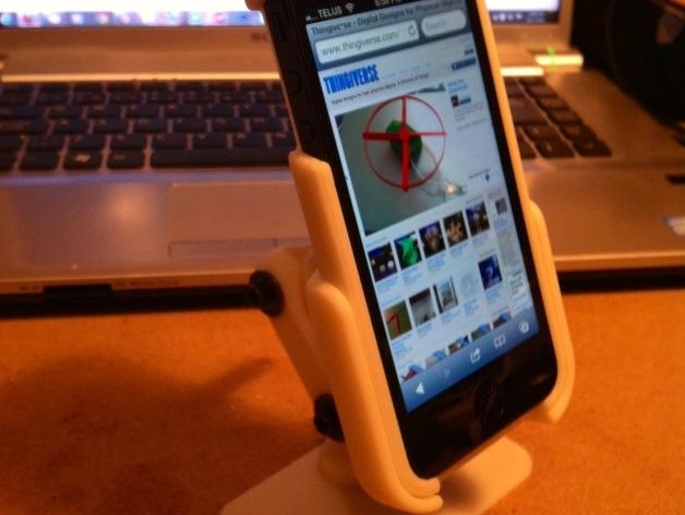 iPhone5 手机套 手机座  3D打印模型渲染图