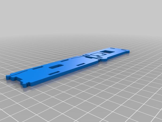 树莓派电路板保护盒  3D打印模型渲染图
