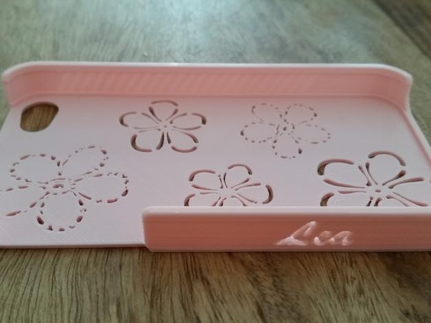 花饰iPhone4S手机外框 3D打印模型渲染图