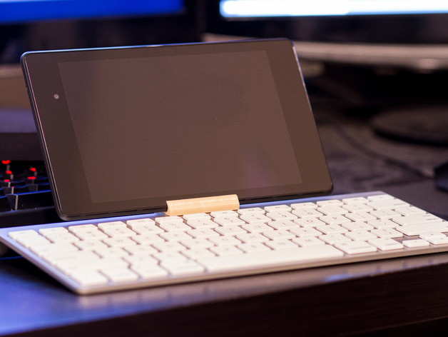 Nexus7 和 苹果 蓝牙键盘架 3D打印模型渲染图