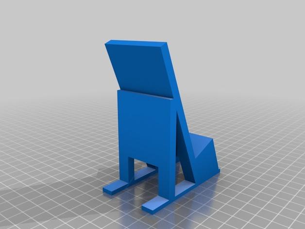 苹果手机座 3D打印模型渲染图