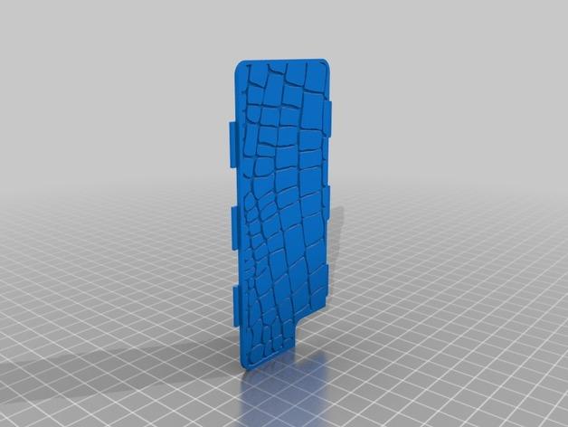 鳄鱼纹手机壳 3D打印模型渲染图