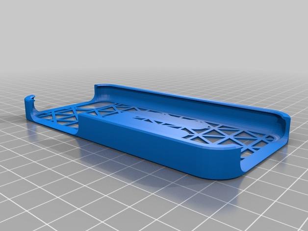 iphone 5C 手机壳 3D打印模型渲染图