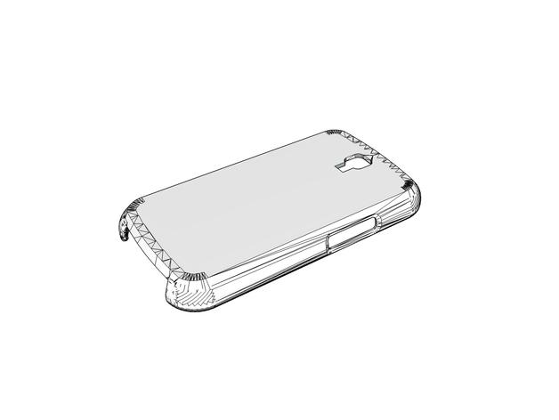 三星s3手机保护壳 3D打印模型渲染图
