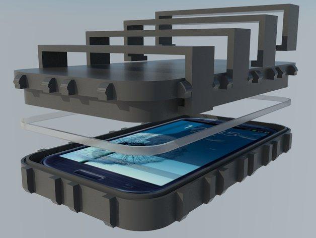 三星S3保护壳 3D打印模型渲染图