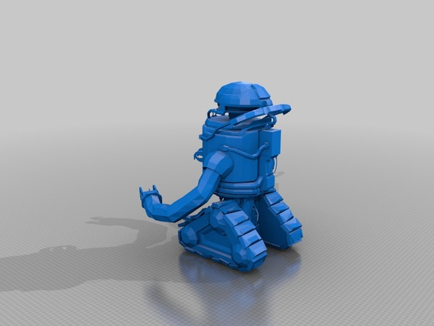 圆顶机器人 3D打印模型渲染图