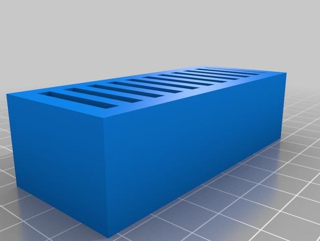 任天堂游戏卡收纳盒 3D打印模型渲染图