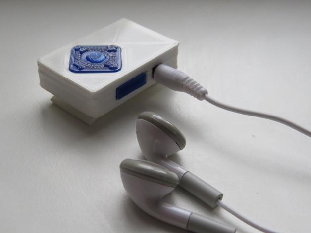 小型MP3播放器 3D打印模型渲染图