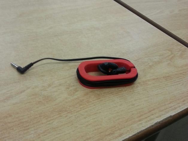 耳机缠绕器 3D打印模型渲染图