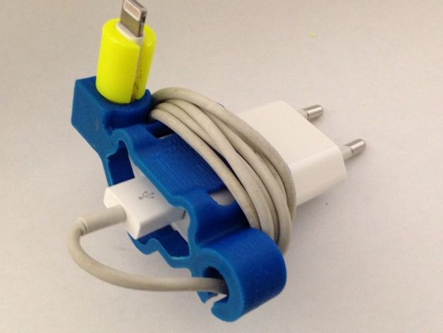 充电器绕线器 3D打印模型渲染图