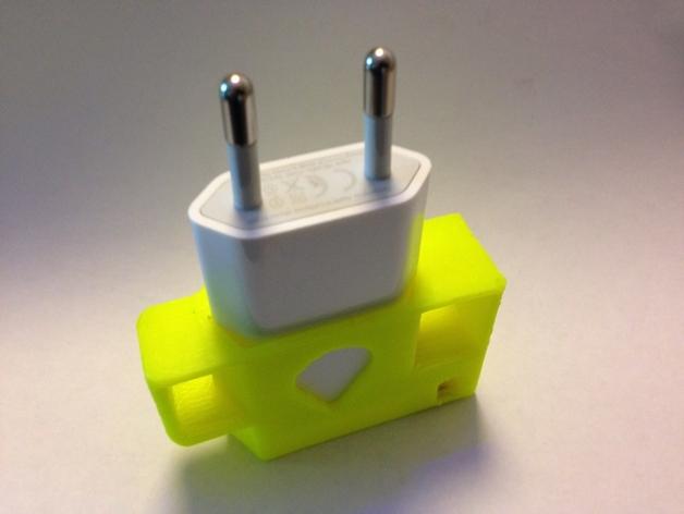 苹果充电器绕线器 3D打印模型渲染图