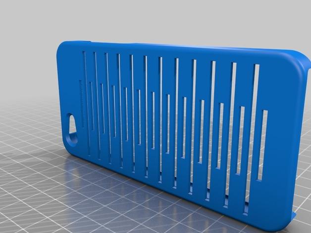 iPhone 5C壳子 3D打印模型渲染图