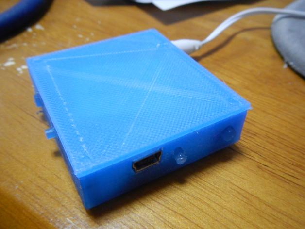 立体蓝牙接收器盒子 3D打印模型渲染图