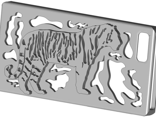 iPhone 5s手机壳 3D打印模型渲染图