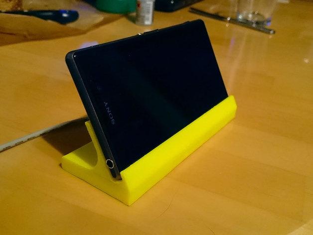 Sony Xperia Z1手机座 3D打印模型渲染图