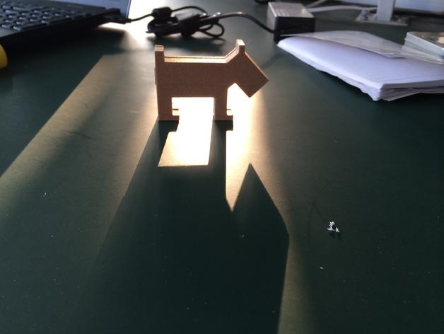 小狗USB磁盘 3D打印模型渲染图