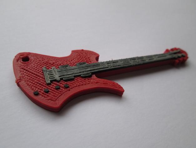 吉他摆件 3D打印模型渲染图