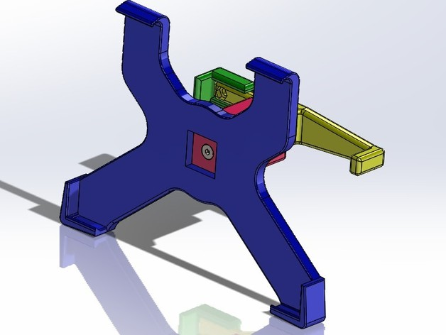 ipad2支架 3D打印模型渲染图