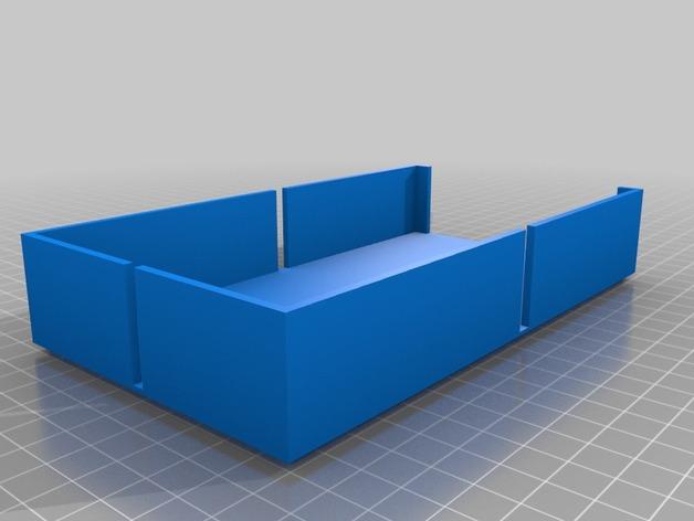 开口箱子 3D打印模型渲染图