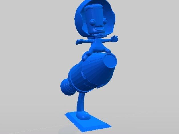 Kerbal Statue摆件 3D打印模型渲染图