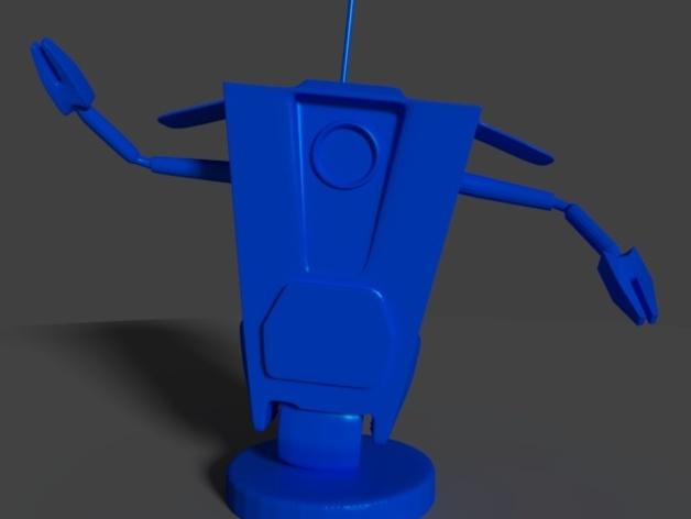 Art ClapTrap 摆件 3D打印模型渲染图
