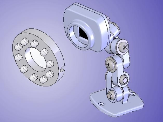 照相机支架 3D打印模型渲染图