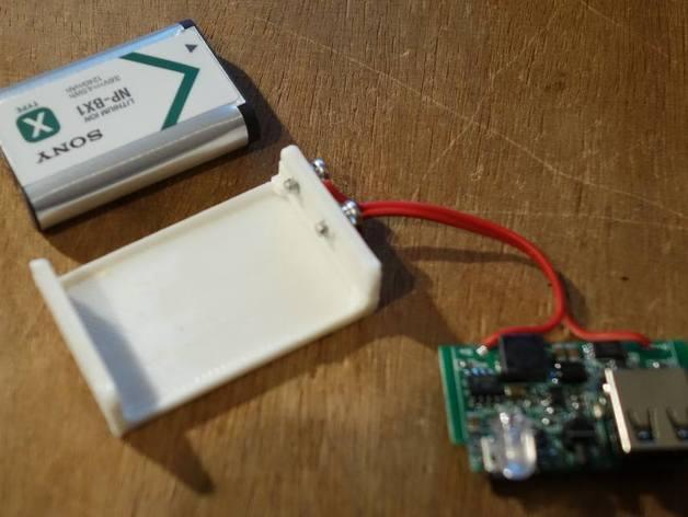 Sony NP-BX1充电器保护壳 3D打印模型渲染图