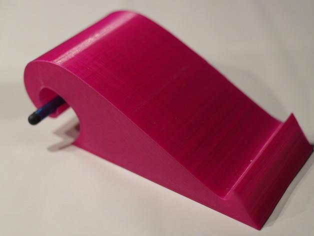 弧形手机座 3D打印模型渲染图