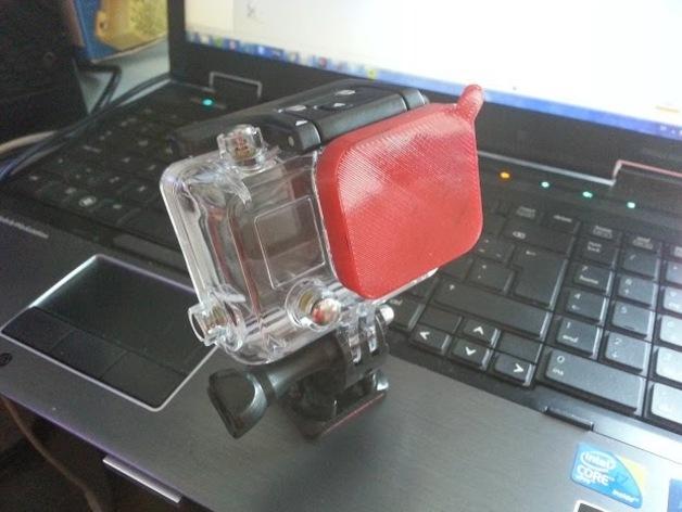 GoPro Hero 3镜头盖 3D打印模型渲染图
