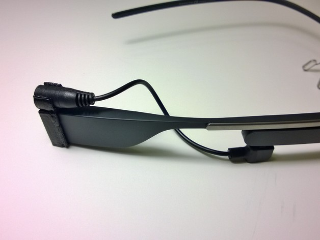 Google Glass适配器 3D打印模型渲染图
