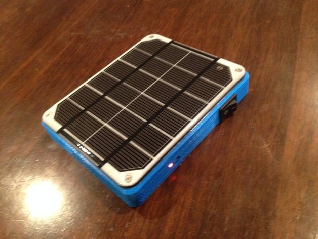 太阳能充电板 3D打印模型渲染图