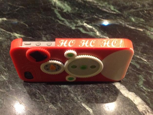 iPhone4S圣诞雪人手机壳