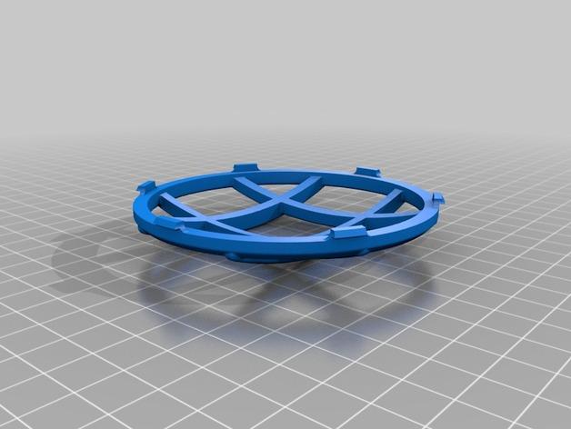 菱形闪光灯罩 3D打印模型渲染图