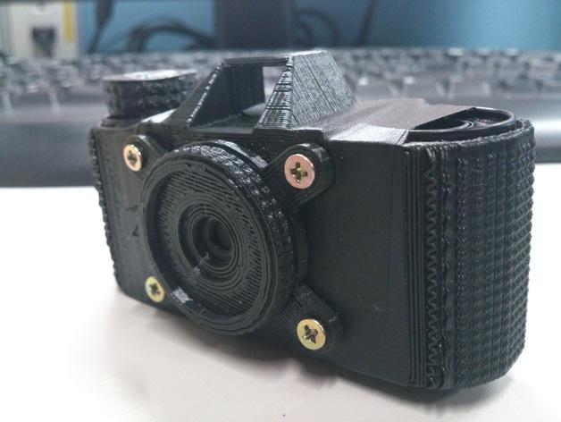 pinhole135迷你相机 3D打印模型渲染图