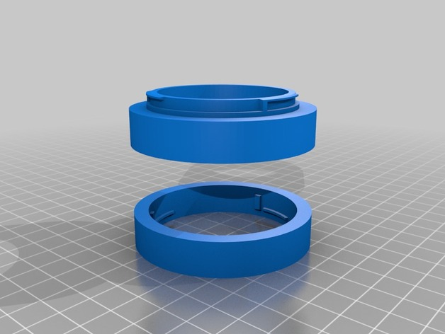 Canon EF 镜头 3D打印模型渲染图