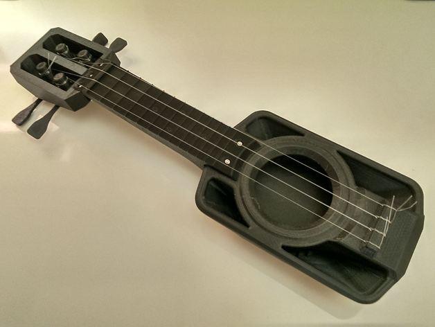 琵琶 3D打印模型渲染图