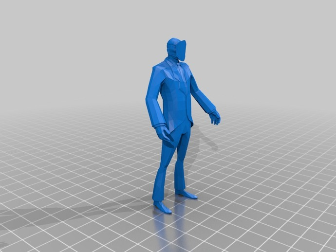 TF2 Spy摆件 3D打印模型渲染图