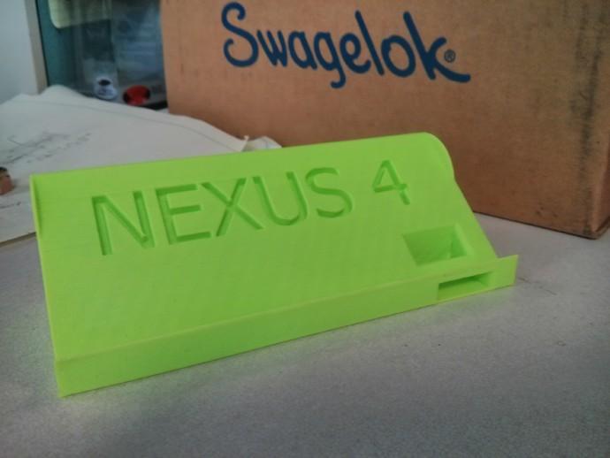 Nexus 4 手机座 3D打印模型渲染图