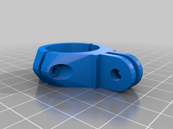 Go Pro适配器 3D打印模型渲染图
