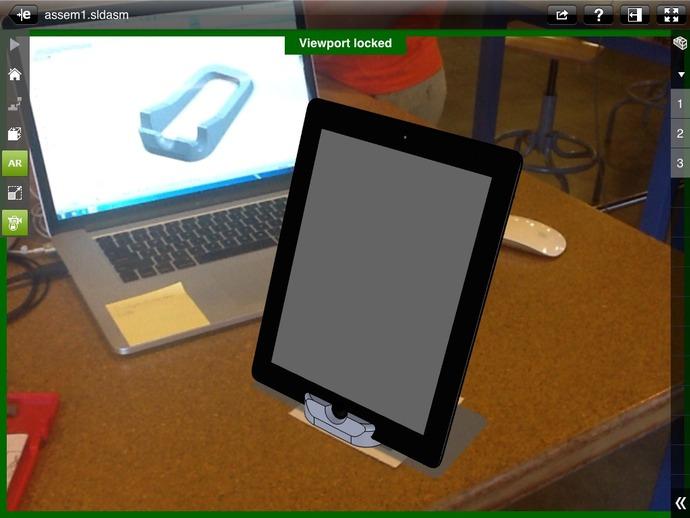 iPad 2手机座 3D打印模型渲染图