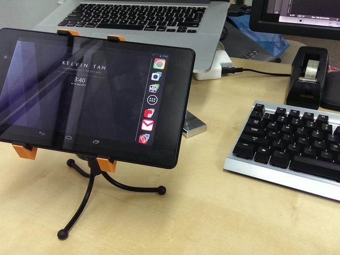 平板夹 3D打印模型渲染图