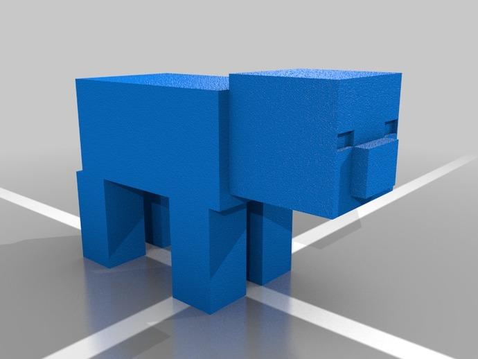 Minecraft Pig摆件 3D打印模型渲染图