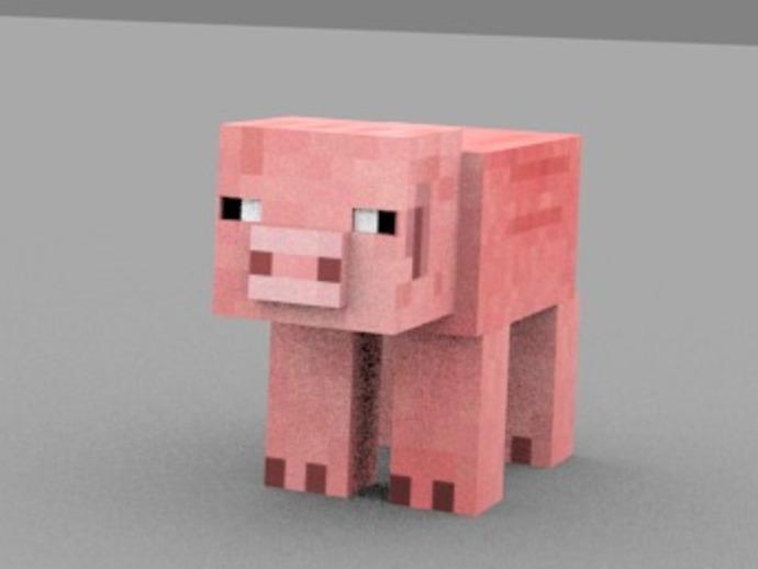 Minecraft Pig摆件